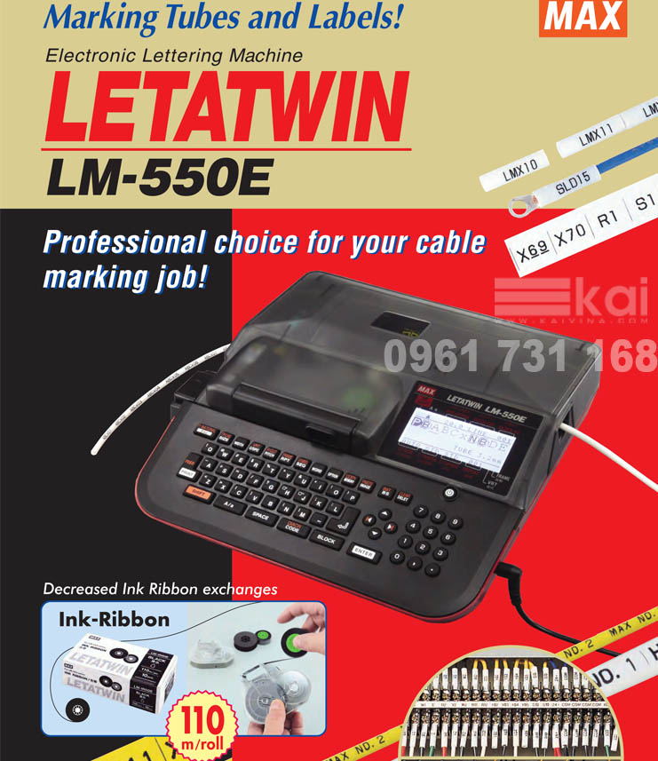 [DOWNLOAD] CATALOGUE MÁY IN ĐẦU CỐT LETATWIN LM-550E