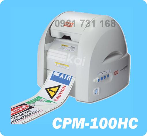 MÁY IN VÀ BẾ CẮT NHÃN TỰ ĐỘNG CPM-100HC