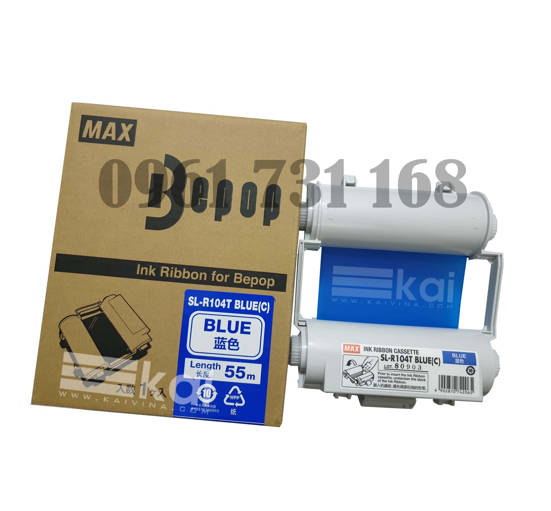 MỰC XANH DƯƠNG SL-R104T BLUE-C (120MM, 55M/ CUỘN)