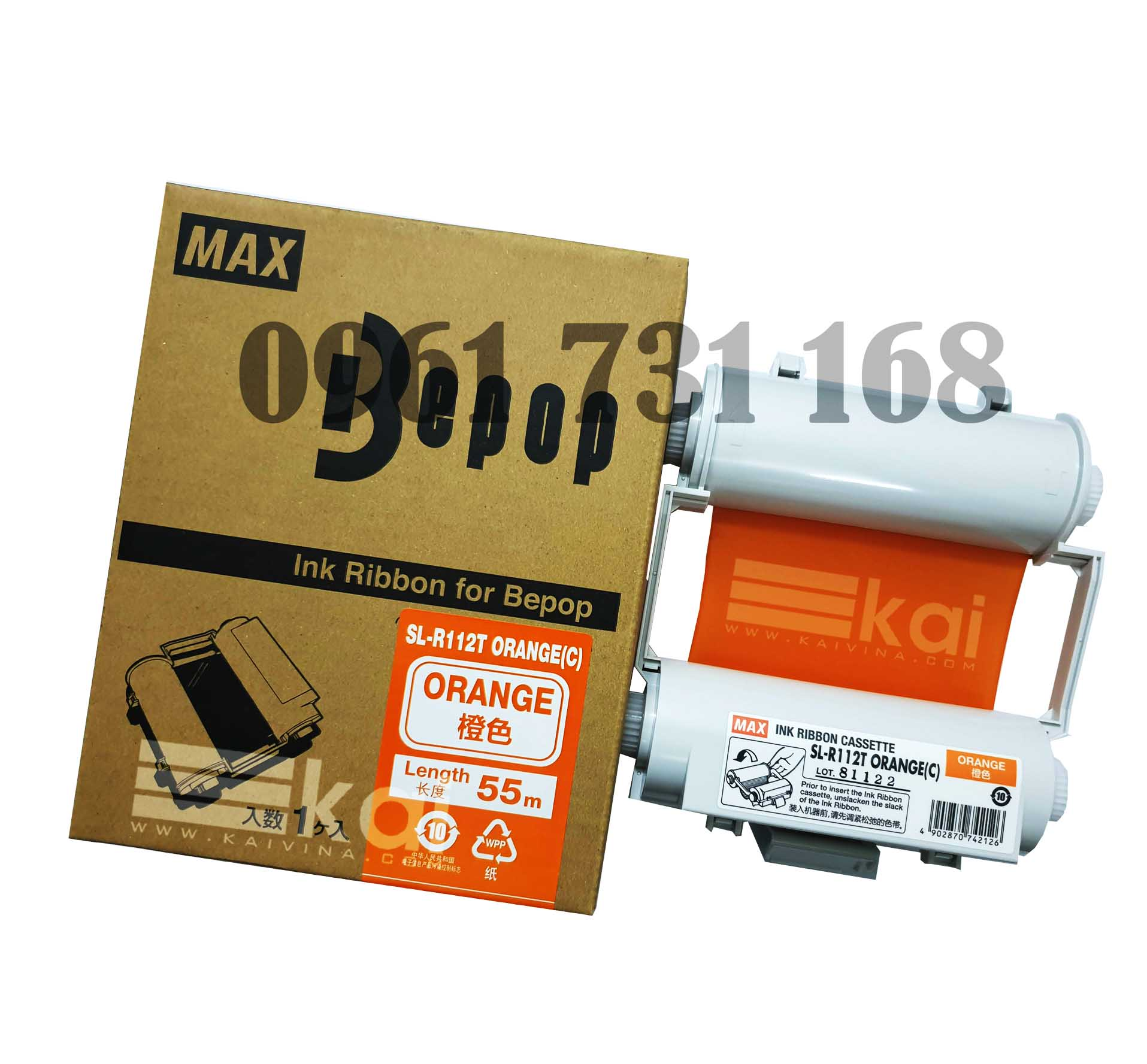 MỰC CAM SL-R112T ORANGE-C (120MM, 55M/ CUỘN)