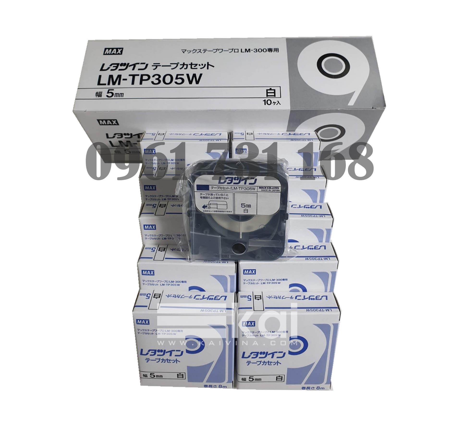 NHÃN TRẮNG LM-TP305W (5MM, 8M/CÁI)