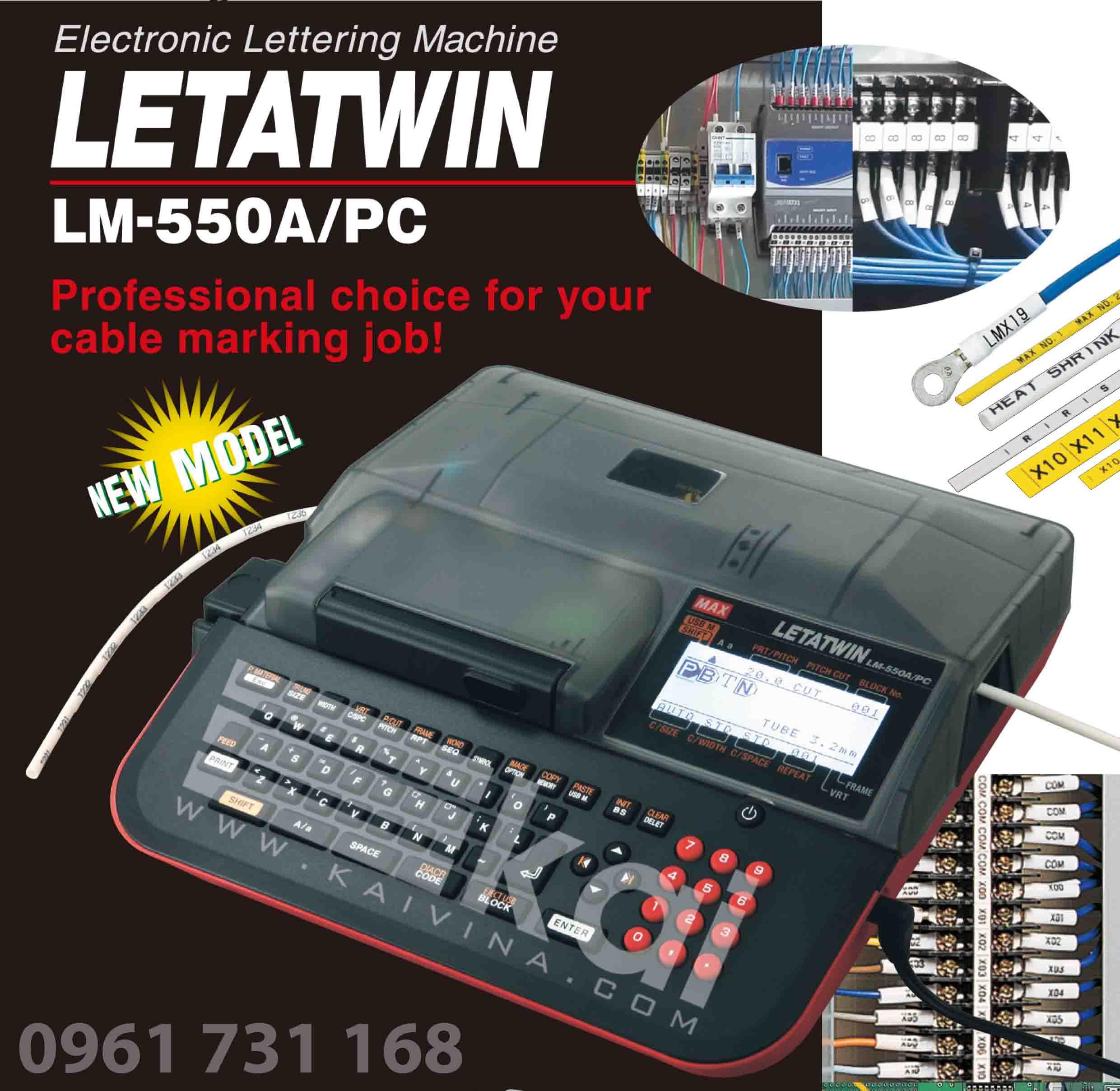GIỚI THIỆU MÁY IN ĐẦU CỐT LETATWIN LM-550A/PC CỦA HÃNG MAX - JAPAN